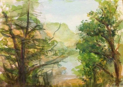 Tulloch Watercolor Landscape Painting